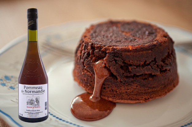 Fondant chocolat velouté au Pommeau de Normandie